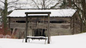 Loft från Österbotten i på Sälgkulla gård i Sibbo, Immersby
