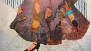 Detalj av målning av konstnären Maria Wolfram.