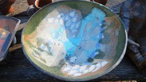 Kopparoxid ger keramikföremålen en vackert blå färg