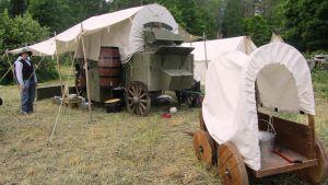 """Classic Old Western Society ordnar varje sommar vid Strömfors bruk ett vilda västern-läger för """"amerikanska invandrare"""""""