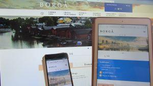 Borgå stads nya webbtjänst ska vara anpassad för mobiltelefoner och läsplattor