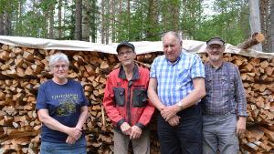Överpurmo hembygdsförening är redo för tjärdalen 2016