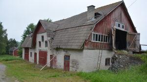 Rita Bergmans gamla djurstall i Kårlax, Pargas.