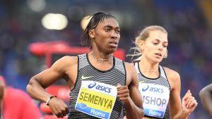 Caster Semenya springer 800 meterslopp i Rom 2016.