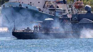 Marinbaseni Sevastopol på krimhalvön