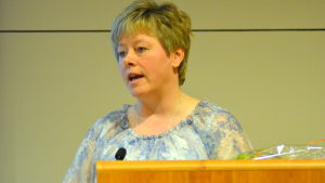 Karlebys stadsdirektör Stina Mattila.