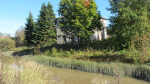 Nickby sjukhus gamla pumphus vid Sibbo å.