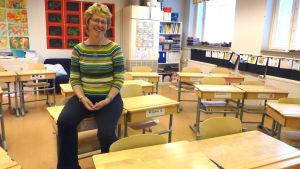 Rektor Rigmor Andersson i Kyrkfjärdens skola.
