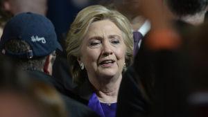 Hillary Clinton efter hennes förlusttal i New York 9.11.2016