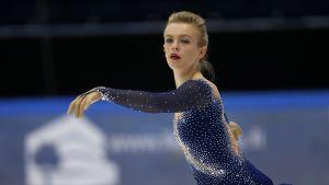 Emmi Peltonen debuterar vid EM för Finlands del i Ostrava.