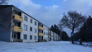 Höghus i Dalsbruk.