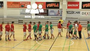 EIF spelar handbollsmatch mot HC Lutuuri