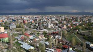 Vy över den turkiska staden Kars
