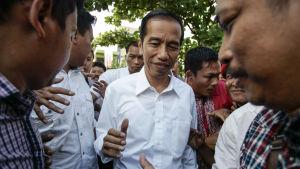 Joko Widodo valdes till ny president i Indonesien.