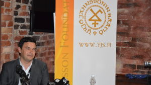 Ekonomiprofessorn Thomas Piketty i Helsingfors