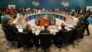 G20-toppmöte i Brisbane, Australien.