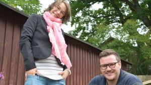 Fredagssnackarna Melinda Lönnberg och Robert Lindberg.