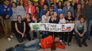 Internationellt seminarium om hållbar konsumtion vid Källhagens skola i Virkby