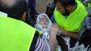 Flyktingar på grekiska Lesbos