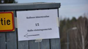 Kullo röstningsområde i Borgå