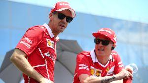 Sebastian Vettel och Kimi Räikkönen.