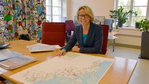 Planläggningsdirektör Ann Holm på Österbottens förbund.