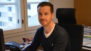 Arkitekt Niklas Kronberg vid Schauman arkitekter, november 2014