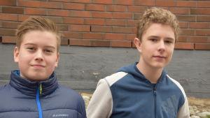 Elever i Winellska skolan i Kyrkslätt.