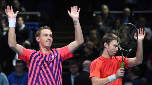Henri Kontinen och John Peers, efter ATP-tourfinalen 2016.