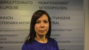Miia Mattila, överinspektör på Migrationsverkets immigrationsenhet.