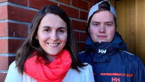 Anna-Kajsa Blomqvist och Niklas Andersson.