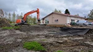 Jordbyggnadsarbetena har redan börjat.