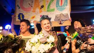 Miss Gay Finland 2015 heter Catariina Salo.