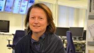Christine Bonn i Yle Österbottens nyhetslandskap.