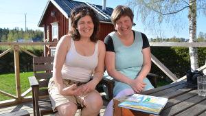 Kristina Svels och Anita Storm har skrivit en ABC-bok om världsarvet.