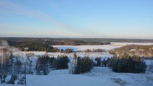 Utsikt från slalombacken i Havs-Tykö