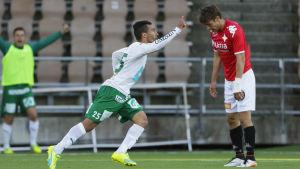 Diego Assis firar mål.