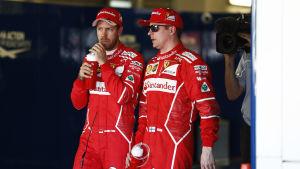 Sebastian Vettel, Kimi Räikkönen.