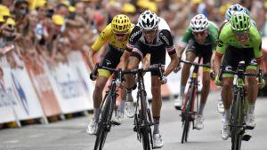 Rigoberto Uran vinner en etapp i Tour de France