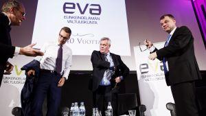 ollila, stubb, rinne och sipilä på Evas statsministerdiskussion