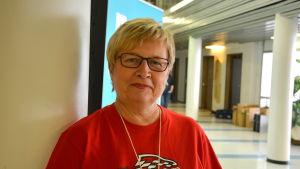 Ulla-Maj Wideroos på Yle i Vasa.