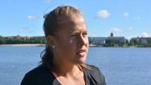 Aino Luoma sysslar med triathlon.