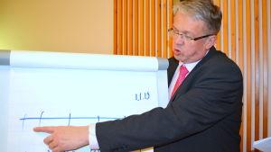 Familje- och omsorgsminister Juha Rehula besökte Kronoby.