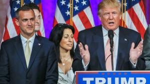 Kampanjchefen Corey Lewandowski och Donald Trump