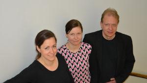 Malin Klingenberg, Maria Johansson och Peter Sandström.