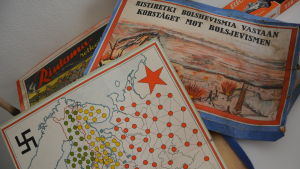 Ett gammalt bredspel som heter korståget mot bolsjevismen