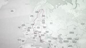 En flyktings färd genom Europa