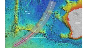 Bilden från Australian Transport Safety Bureau från 30 juli visar området där man söker efter MH370.