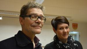 Cornelius Colliander (Gröna) och Åsa Gustafsson (SFP)