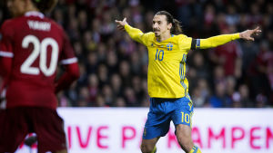 Zlatan Ibrahimovic avgjorde när Sverige slog Danmark i EM-kvalet.